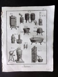 Diderot 1780's Antique Print. Chimie 06 Chemistry
